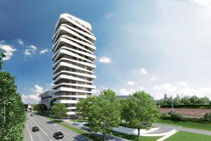 Mithilfe von Allplan Architecture realisiert SKY-Tower Bietigheim-Bissingen – Architekten: KMB Plan|Werk|Stadt|GmbH, Ludwigsburg<br />