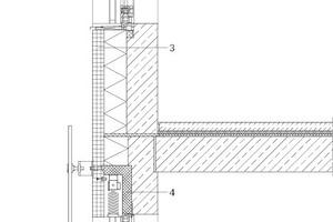 "Fassadenschnitt, M 1:33<sup>1</sup>/<irfontsize style=""font-size: 4.400000pt;"">3</irfontsize>"
