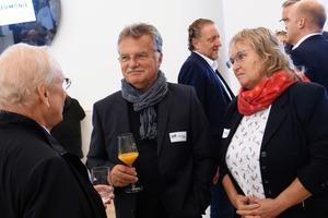 Auch Eckhard Gerber (Gerber Architekten) und Hartmut Miksch (ehem. Präsident der Architektenkammer) nutzten die Veranstaltung für Gespräche