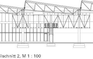 Meisterbüro Detailschnitt 2, M 1:500