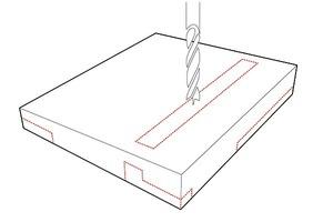 Das Entwurfs-Konzept von gernot schulz : architektur oben: Anordnung der Flächen und der Kommunikationsfuge<br />unten: Einschnitte wie bei einem präzise gefrästen Werkstück
