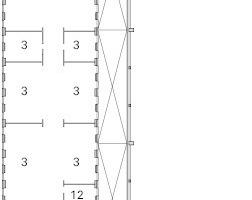Grundriss Kopfbau 1. Obergeschoss, M 1:1000