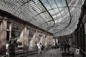 Galleria Vittorio Emanuele II, Mailand, Giuseppe Mensoni, 1867<br />Passage de la Bourse, Charleroi, Edmond Legraive, 1893