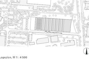 Lageplan, M 1:4500