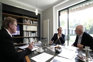 Bei agn am Hauptsitz in Ibbenbüren: die DBZ im Gespräch mit Dr. Stefan Nixdorf und Bernhard Busch