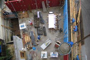 Kerngedämmter Dämmbeton ermöglichte Wanddicken von 44cm, so dass die geringe Grundfläche des Gebäudes optimal ausgenutzt werden konnte
