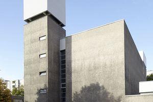 Das gesamte Gemeindezentrum St. Agnes in Berlin-Kreuzberg entstand 1964–1967 als typischer Bau des Brutalismus für die katholische Kirche