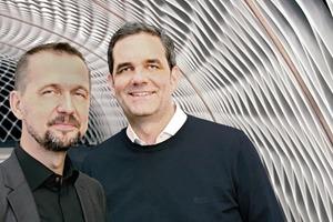 Thorsten Helbig und Boris Peter vor der Nachhallgalerie
