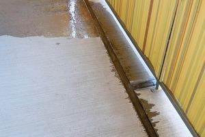 Abb.8: Wasserabfluss über die Außenkante (Überblick)