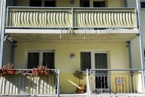 Abb.2: Sichtbare Durchbiegung einer Balkonplatte
