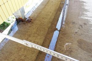 Abb.5: Wasserabfluss über die Außenkante