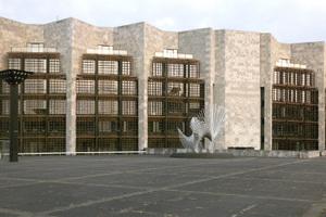 Rathaus und Sanierungsfall in Mainz (Arch.: Arne Jacobsen mit Otto Weitling)