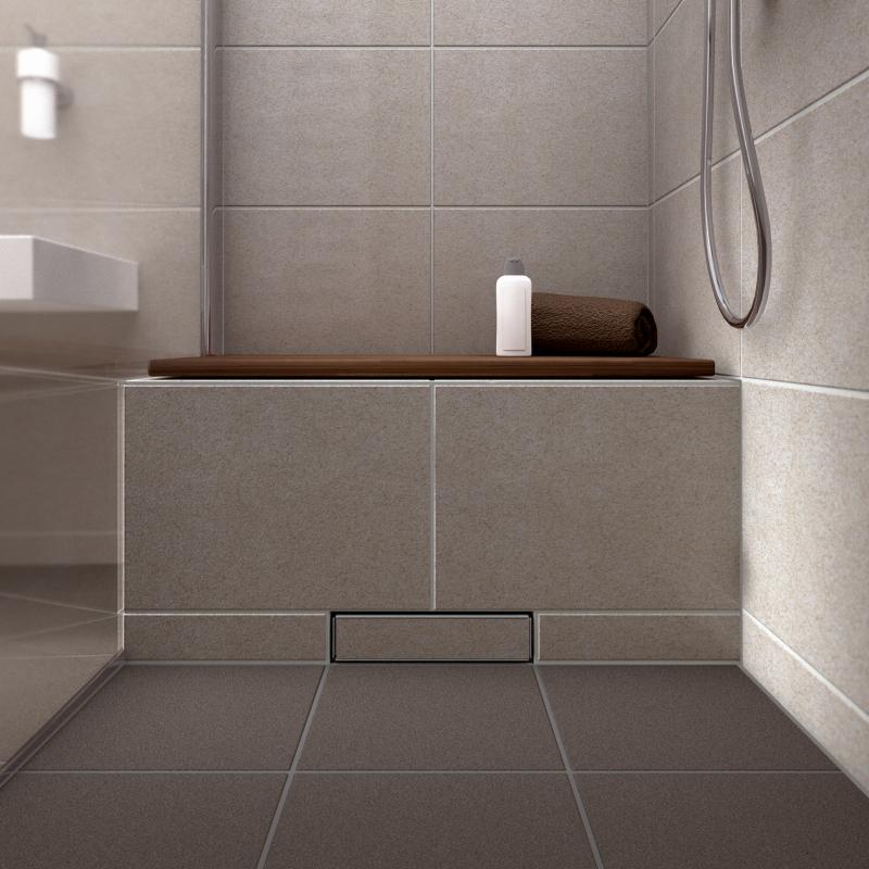 sitzbank mit wandablauf deutsche bauzeitschrift. Black Bedroom Furniture Sets. Home Design Ideas