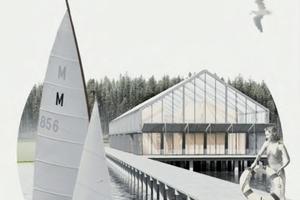 Gewinnerin Lavespreis 2017: Sonja Gehrmann, Universität Hannover, mit ihrem Entwurf eines Wassersportzentrums