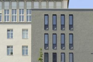 Das U des Neubaus greift von Norden um den Kopfbau des Erweiterungsbestandes