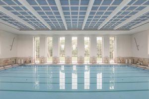 Die Schwimmhalle Finckensteinallee in Berlin wurde 1938 errichtet und 2014 vollständig modernisiert