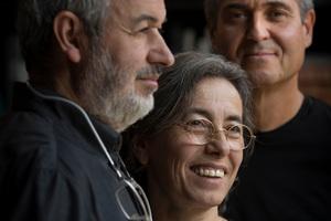 V.l.: Ramon Vilalta, Carme Pigem und Rafael Aranda von RCR Arquitectes, Spanien
