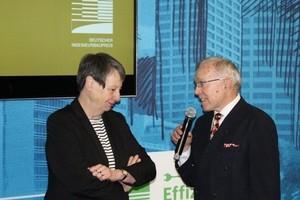 Bundesbauministerin Barbara Hendricks und Hans-Ullrich Kammeyer, Präsident der Bundesingenieurkammer, loben den Deutschen Ingenieurbaupreis 2018 aus.