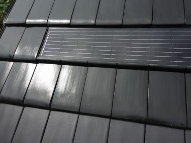 Dachintegrierter Solardachziegel