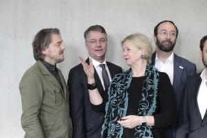 Kuratoren (auch Generalkommissare genannt) mit Staatssekretär Gunther Adler (2. v. l.): Lars Krückeberg, Marianne Birthler, Wolfram Putz und Thomas Willemeit