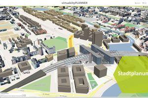 Rendering von Berlin mit Hauptbahnhof und neu geplanten Umgebung: CityBIM soll es Planern und Architekten ermöglichen Wissen und Objekte aus dem Stadtmodell in ihre Planungsumgebung zu integrieren und dann die Planung selbst wieder in den Stadtkontext zu bringen um dort bereits erste Analysen zu tätigen