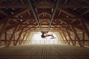 Ausgezeichnet: Bei der Hofstelle Karpfsee erfüllt die neue Holzkonstruktion trotz ihrer Einfachheit alle Anforderungen des Bestands sowie die der neuen technischen Funktionen