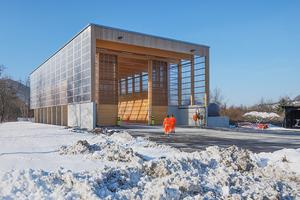 Ausgezeichnet: Salzlagerhalle in Geislingen a.d. Steige. Holz und Stahlbeton, die Materialien der Tragkonstruktion, sind hier so eingesetzt, dass sie für die konstruktiv-statischen Anforderungen die besten Eigenschaften bieten