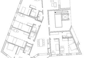 "Clusterwohnung Haus Afrika, M 1:333 <sup>1</sup>/<irfontsize style=""font-size: 4.400000pt;"">3</irfontsize>"