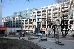 Ansicht Pasteurstraße: Ladenlokal überbaut