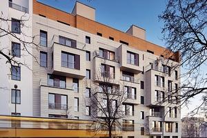 Das Baugruppenprojekt mit der markanten Straßenfassade wurde mit dem International Passive House Award ausgezeichnet