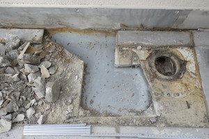 Bild 8: Zementestrich auf der Abdichtung