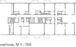 Grundriss 2. OG, M 1:750