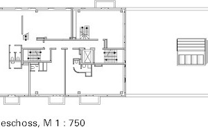Grundriss 5. OG, M 1:750