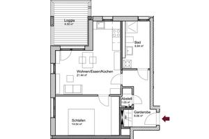 Grundriss Wohnung Haus II<br />