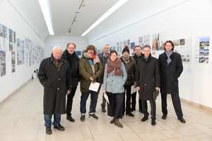 Die Jury v.l.: Gerhard Hausladen, Burkhard Fröhlich, Peter Cachola Schmal, Hermann Seeberger, Anne-Julchen Bernhardt, Stephan Engelsmann, Benedikt Schulz, Ernst Uhing, Matthias Fuchs