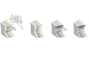 Skizzen zum Sägen der Betonkonstruktion