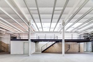 """Hybride Planungsprozesse am """"Alten Schlachthof"""", Karlsruhe, """"Kühlhaus"""" (Sanierung ASTOC mit Feigenbutz Architekten)"""