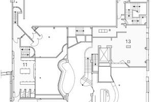 Grundriss Zwischengeschoss, M 1:500