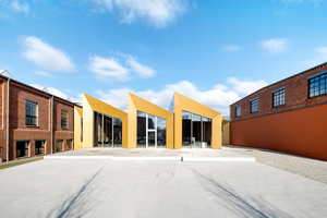 Der Neubau verbindet die Gebäudeteile und unterschiedlichen Ausstellungsbereiche.