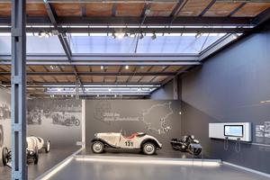 Bei der Wiederherstellung der Produktionshalle wurden die ursprünglichen Strukturen der historischen Architektur originalgetreu rekonstruiert.