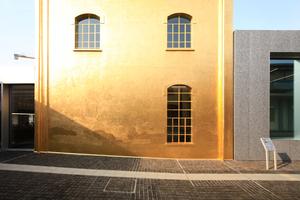 """Das """"Goldene Haus"""" hinter 24Karat-Blattgold-Vergoldung"""