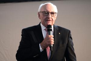 Begrüssung der gut 100 Gäste im Ovalsaal: BDB Präsident, Hans Georg Wagner