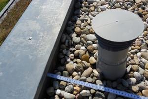 Bild1: Lüftungsrohr im Bereich der Dachfläche