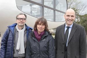 v. l.: Matthias Ludwig, Heike Nessler und Philip Kurz