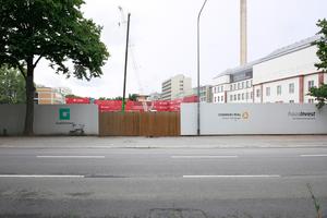 Bauplatz 2017, rechts, das beinahe fertige Senckenberg-Naturkundemuseum