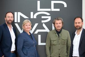 Die Kuratoren des deutschen Pavillons: Wolfram Putz, Marianne Birthler, Lars Krückeberg und Thomas Willemeit