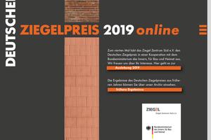 Auslobung/Eingabe über das Online-Portal: www.deutscher-ziegelpreis.de
