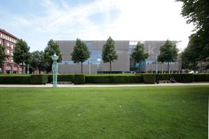 Die Kunsthalle am südlichen Parkrand in Mannheim