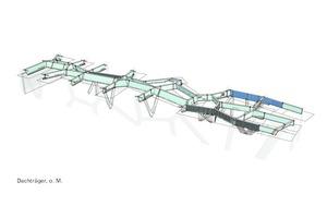 Voronoi-Dachträger:Parametrisches 3D Werkstattplanungsmodell des Stahldaches