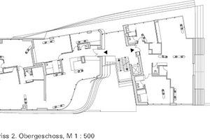 2. Obergeschoss, M 1:500
